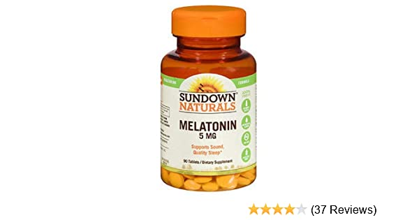 Amazon.com: Sundown Naturals Melatonin 5 mg Tablets 90 ea: Health & Personal Care