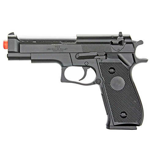 BBTac Airsoft Pistol BT-M22 Spring Loaded Gun Airsoft Handgun, High Power 300 FPS (Best Spring Loaded Airsoft Pistol)