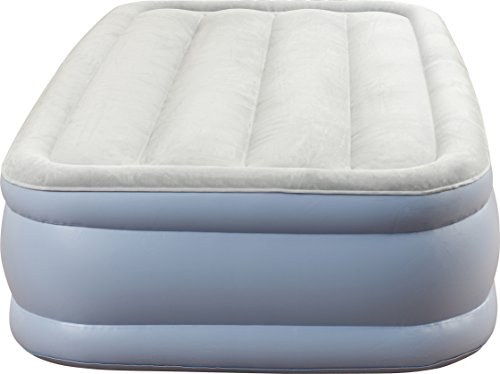 Simmons Beautyrest Hi-Loft Inflatable Mattress Raised-Profile Air Bed with External Pump Twin
