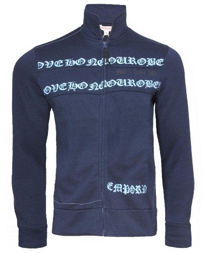 Emporio Men's Ras Love Fleece Full Zip Sweatshirt Top Medium - Giorgio Tops Armani