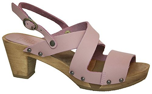 Sanita Olympia Flex' Flexible Wooden Clog Heel Sandals (Art: 453200) - Nude (Wooden Mule Sandals)