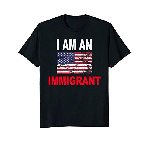 Mens I'm An Immigrant T-shirt XL Black