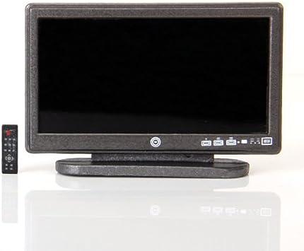 TOOGOO(R) TV LCD de panel plano de pantalla ancha de casa de munecas en miniatura con remoto Gris: Amazon.es: Electrónica