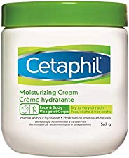 Cetaphil Moisturizing Cream with Sweet Almond Oil and Glycerin 567g - 48hr Hydration for Dry To Very Dry and S