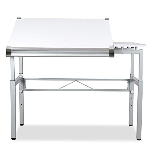 go2buy Adjustable Drafting Table Painting Drawing Desk Workstation White by go2buy