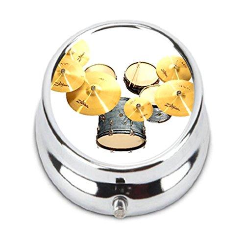 Drum Kit Zildjian Custom personality Pill Box Pill Case Medicine Organizers or Purse by Traeema (Zildjian Cases)