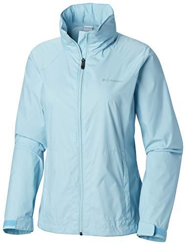Columbia Women's Plus Size Switchback III Adjustable Waterproof Rain Jacket, Clear Blue, ()