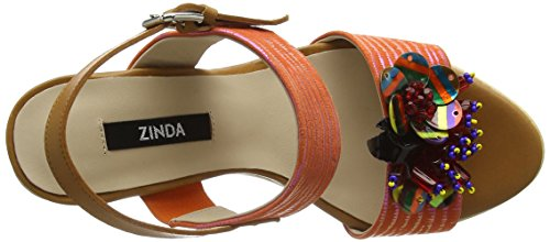 Donne Sandali Delle Arancione Orange Zeppa arancione Zinda 2319 xngwEE