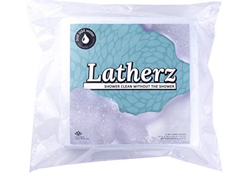 Mars-Wellness-All-in-one-No-Rinse-Washing-Bathing-Bath-or-Shower-Cleansing-Sponge-Wipes-Great-For-When-a-Shower-or-a-Bath-is-Inconvenient-or-Unavailable-Pack-of-25-Cloths-By-Latherz-Featured-on-NBC-NE