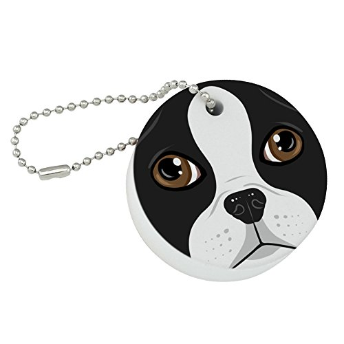 Graphics and More Boston Terrier Look Into My Eyes Face Pet Dog Round Floating Foam Fishing Boat Buoy Key Float Keychain