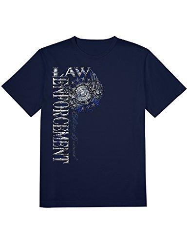 Erazor Bits Law Enforcement Elite Breed Pride Duty Honor T-Shirt, Dual - Elite Tshirts