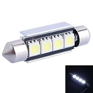 GC® 41mm 1.2W 65LM 6000K 4x 5050SMD LED blanco para coches Lectura/matrícula/lámpara de la puerta (DC12V)