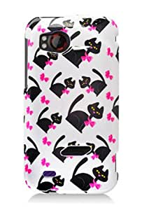 HTC 6425 Rezound / Vigor Graphic Case - White Bow Tie Cat (Package include a HandHelditems Sketch Stylus Pen)