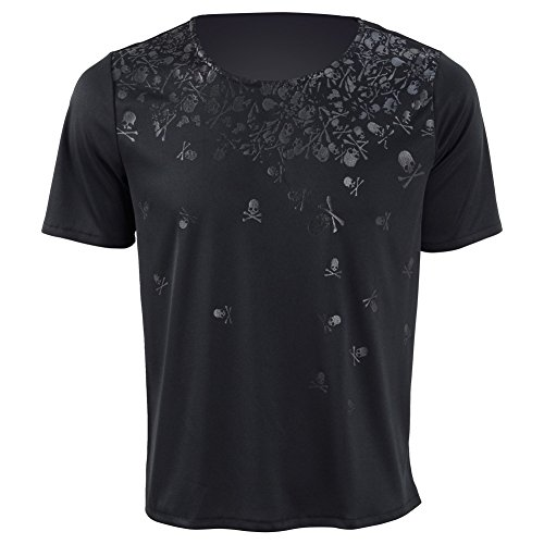 NOCTIS T-Shirt Cosplay Costume Black Spandex Short Shirt for Men (X-Large, Black)