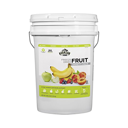 Augason Farms Fruit Variety Pail Long Term Food Storage Camping Everyday Meal Prep 6 Gallon Pail