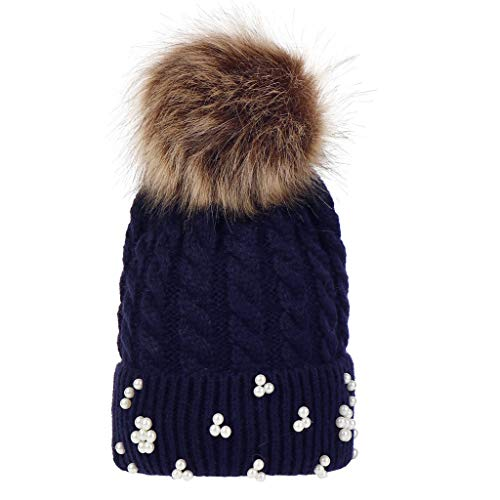 Weiliru Children Baggy Warm Crochet Winter Wool Knit Ski Beanie Skull Slouchy Caps Hat (Crochet Felted Hat)