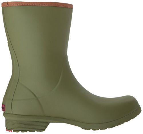 Chooka Womens Mezza Altezza Memory Foam Rain Boot Oliva