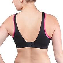 Brooks Women's Fiona Sports Bra (MVC-350064 3675135 DD 32 643 - PETAL/BLACK)