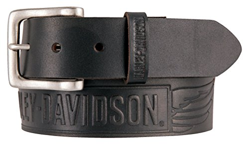 Harley Davidson Embossed Crosswind Leather HDMBT11334 BLK