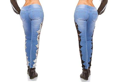floral BriskyM floral Femme BriskyM BriskyM noir noir Jeans Jeans Femme 6qRwUHp