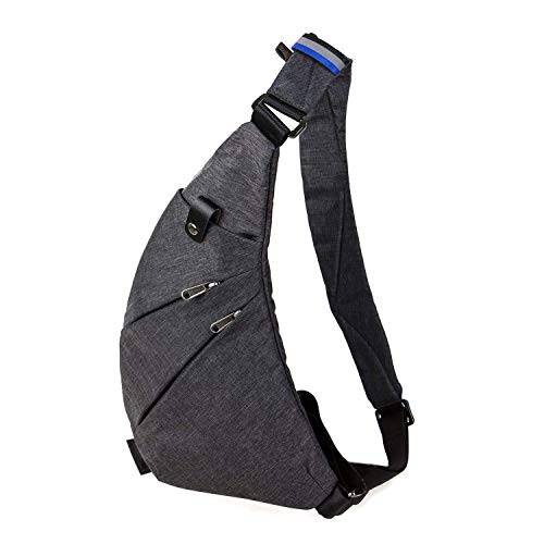Bag Chest Men Back Shoulder Women Bags Theft Bag Blue Travel For Crossbody Anti Sling 8qTaIa