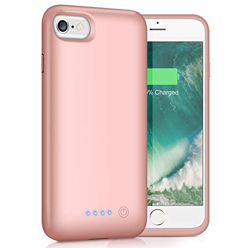 Yacikos Battery Case for iPhone 6s/6,6000mAh Portable Charging Case Rechargeable Extended Battery Park for iPhone 6s/6(4.7) Protective Charger Case Backup Power Bank Cover (rose gold)