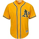 Outerstuff Oakland Athletics Blank Yellow Kids Cool Base Alternate Replica Jersey (Kids 7)