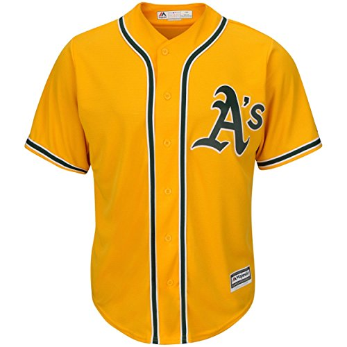 Outerstuff Oakland Athletics Blank Yellow Kids Cool Base Alternate Replica Jersey (Kids 4)