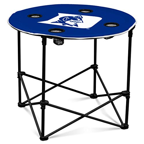 - Duke Blue Devils Collapsible Round Table with 4 Cup Holders and Carry Bag