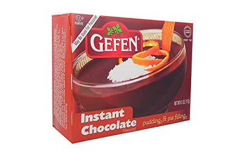 Gefen Instant Chocolate Flavored Pudding & Pie Filling Kosher For Passover 4.1 Oz. Pack Of 3.