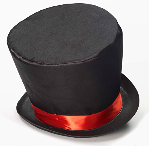 Forum Novelties Men's Mad Hatter Costume Hat, Black/Red, One Size
