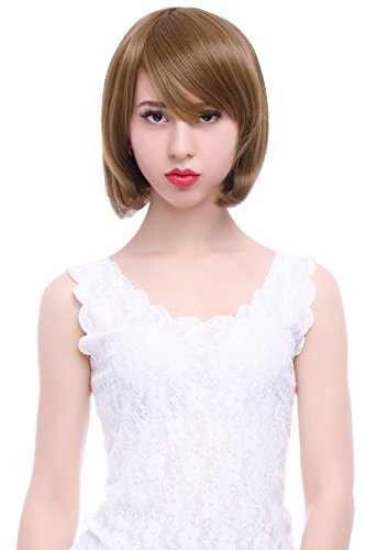 Lemail Wig Party Short Straight Fashion Light Brown Bob Hair Wigs FS01C