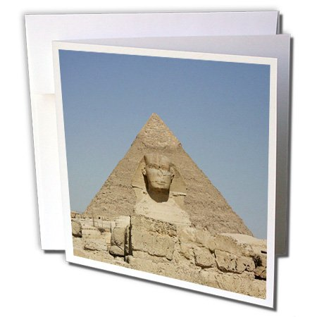 3dRose The Great Pyramids and Sphinx - Greeting Cards, 6 x 6 inches, set of 6 (gc_26809_1) (Card Sphinx)