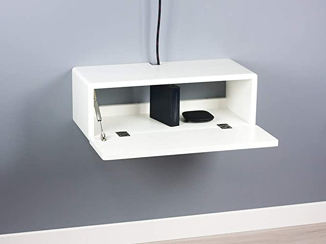 Blanca Small Floating Media Console, Wall Mount TV Stand, Entertainment  Cabinet