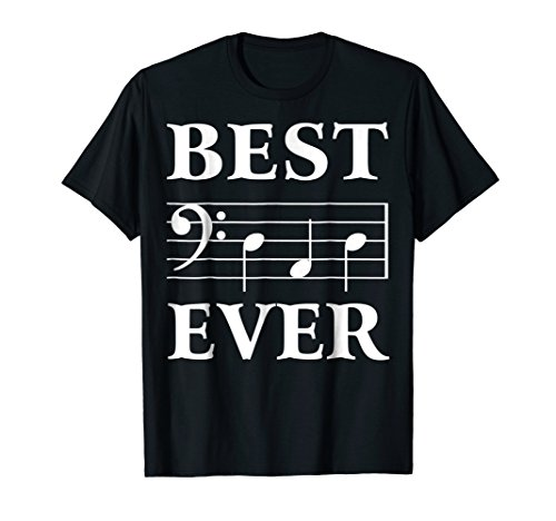 Best Dad Ever Bass Clef Musician Father's Day Tshirt gift