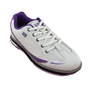 Brunswick Ladies Curve Bowling Shoes (8 M US, White/Purple)