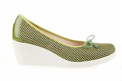Tresse Lince CALE Shoes Vert Cuir en qvwzRP