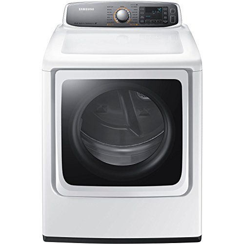 Samsung DV56H9000EW 9.5 Cu. Ft. Electric Steam Dryer with Drying Rack, White by Samsung