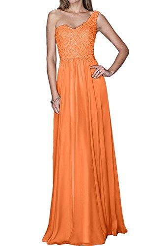 Braut Orange Linie Brautmutterkleider Chiffon Lang A Partykleider Marie Abendkleider Ein Traeger Damen La Pailletten Bgnwxg