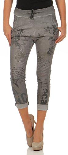 Malito Jogg Jeans Pantalon Stretch 7556 Femme Gris