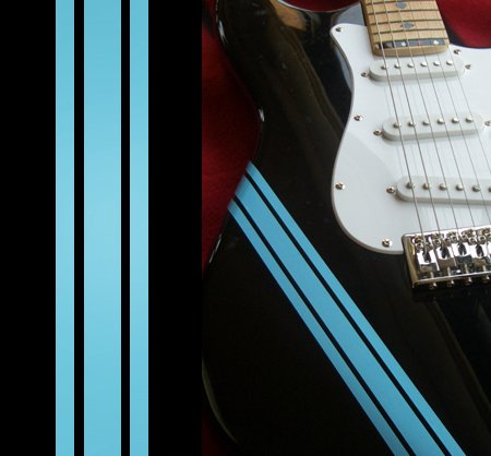 Competition Racing Line Stripes (Sonic Blue) Inlay Sticker Decals for Guitar & Bass Body ()