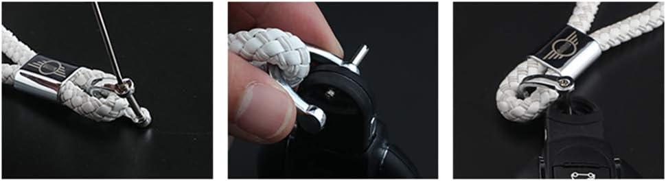 Noir Porte-cl/és de voiture en corde avec pendentif pour Mini Cooper JCW One S R55 R56 R60 F54 F55 F56 F60 Countryman Accessoires