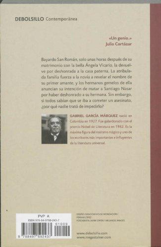 Cronica De Una Muerte Anunciada / Chronicle of a Death Foretold (Spanish Edition) by imusti