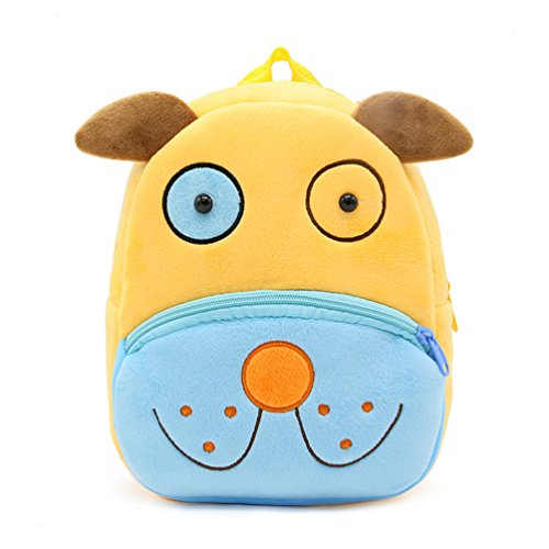 Swesy Cute Baby Toddler Backpack Plush Toy Snack Travel Bag for 1-3 Years (Dog)