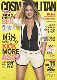 Cosmopolitan Magazine April 2014 -Khloe Kardashian on Cover - Break the Bed Sex - 168 Ways to Kick Ass - Why Men Cheat - How to Protect Yourself From the Killer Next Door