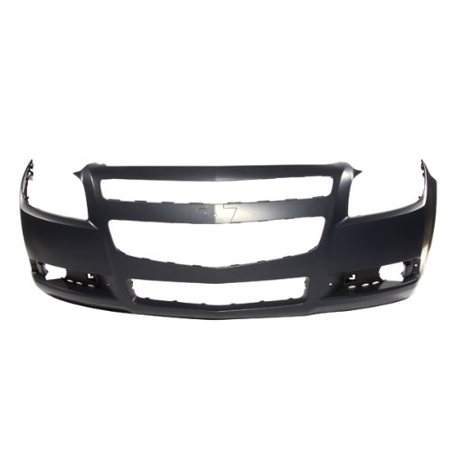 CarPartsDepot, Front Bumper Cover Primed Black Plastic New Replacement w/o Emblem, 352-15612-10-PM GM1000858 - Front Cover Bumper Hybrid