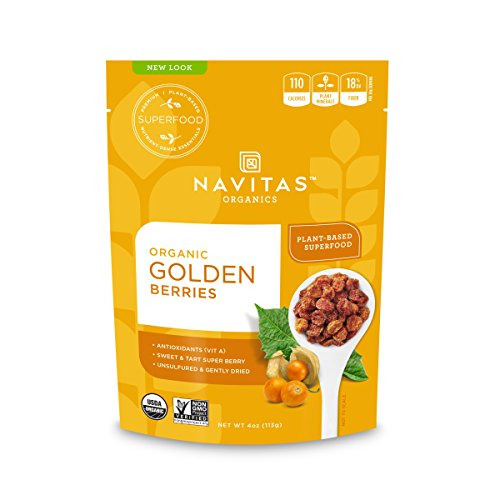 Navitas Organics Goldenberries, 4 oz. Bag - Organic, Non-GMO, Sun-Dried, Sulfite-Free