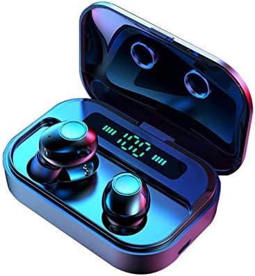 RONSHIN Wireless Bluetooth Headphone M7 TWS 5.0 Bluetooth Earphones Power LED Display Wireless Earphone IPX7 Waterproof Sport Earbuds 6D Stereo Game Headset Black