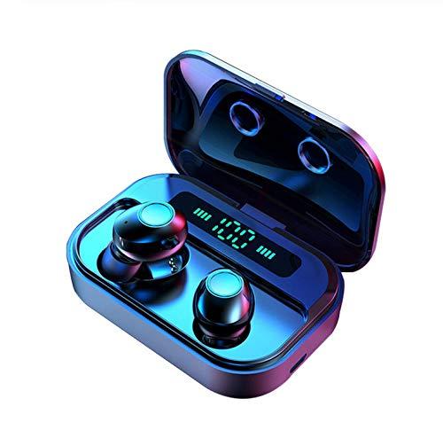 Alician M7 TWS 5.0 Bluetooth Earphones Power LED Display Wireless Earphone IPX7 Waterproof Sport Earbuds 6D Stereo Game Headset Black