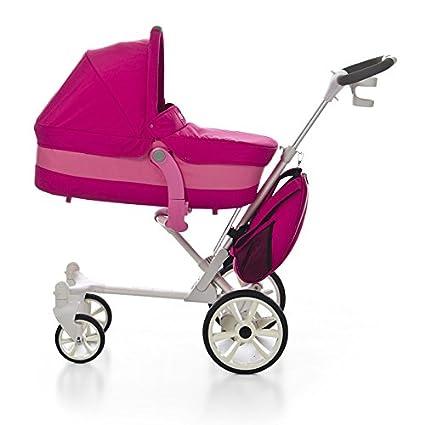 MODERNO Coche paseo bebé, color FUCSIA. Incluye 3 piezas: Moisés/Capazo +